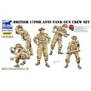 1/35 Bronco: British WWII 17pds Anti-Tank Gun Crew Set