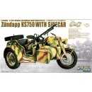 1/35 GWH WWII German Zündapp KS 750 with Sidecar /w trailers