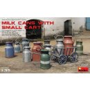 1/35 Mini Art Milk Cans with small cart