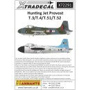 1/72 Xtradecal Replacing X72250 revised. Hunting Jet...