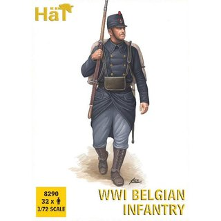 1/72 HAT Industrie WWI Belgian Infantry E28B Release (32 figures/box)