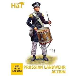 1/72 HAT Industrie Prussian Landwehr Action E28B Release (56 figures/box)
