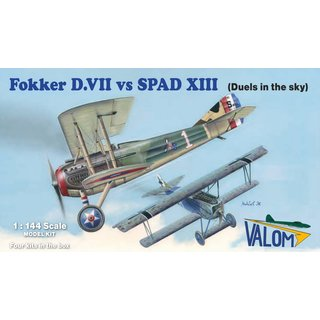 1/144 Valom Fokker D.VII vs. Spad XIII (2+2 in1 box)