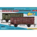 1/35 SBS Model German Railway Covered G10 Wagon 6in1