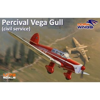 1/72 Dora Wings Percival Vega Gull with civil registrations