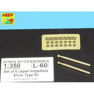 SET OF 6 JAPAN TORPEDOES