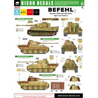 GERMAN BEFEHL AND HQ TANK