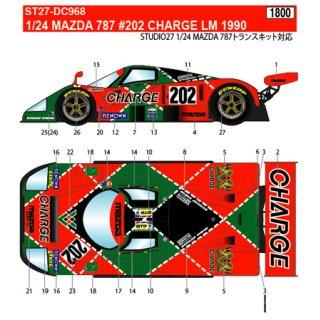1/24 Studio27 MAZADA 787 #202 CHARGE LM 1990