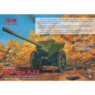 1/35 ICM 76.2MM F-22 SOVIET GUN