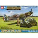 1/48 Tamiya DEWOTINE D.520  w/Staff Car and 3 Figures