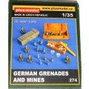 1/35 - PlusModel 274 - German Grenades and Mines WWII...