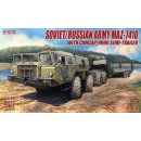 1/72 Russian Army MAZ-7410with semi trailer
