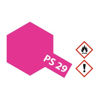 Tamiya Spray PS-29 Neon Rosarot Polycarbonat 100ml