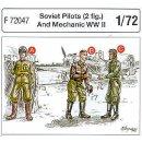 2 SOVIET PILOTS WWII + ME