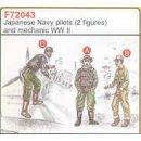2 JAPANESE NAVY PILOTS WW