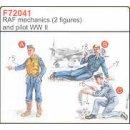 2 RAF MECHANICS & PILOT W