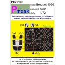 1:72 Pmask Breguet 1050 Alize canopy and wheel paint mask...
