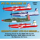 1/72 OzMods Pilatus PC-9 with decals for RAAF CAS...
