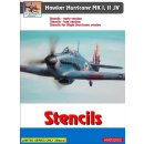 1/32 H-Model Decals Hawker Hurricane stencils (set for 3...