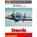 1/48 H-Model Decals Hawker Hurricane stencils...