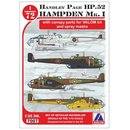 1/72 Avalon Handley-Page Hampden Mk.I (6x camouflage...