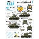 1/35 Star Decals Korean War tigerface Shermans. 64th Tank...
