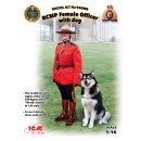 1/16 ICM RCMP Female Officer with dog (100% new molds).