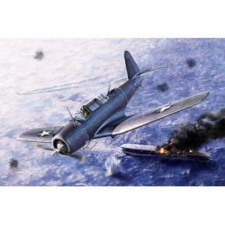 1/48 Academy Vought SB2U-3 Vindicator Battle of Midway (Ex Accurate Miniatures)