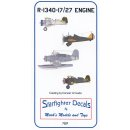1/72 Starfighter Decals R-1340-17/27 Engine. Contains 1...