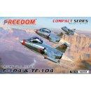 1/No Scale Freedom Models Lockheed F-104 & TF-104...