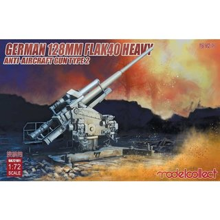 1:72 Modelcollect German 128mm Flak40 heavy Anti-Aircraft Gun Type 2