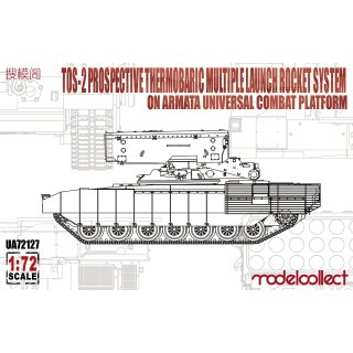 1:72 Modelcollect TOS-2 Prospective Thermobaric MuLtlpllau Rocket System on Armata Universal Combat