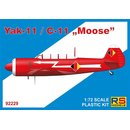 1/72 RS Models Yakovlev Yak-11 / C-11 Moose Decals for 3...