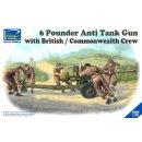 1/35 Riich Models 6 Pounder Infantry Anti-tank Gun with...