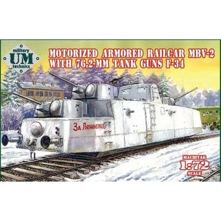 1/72 UM-MT Motorized Armored Railcar MBV-2 With 76.2-mm Tank Guns F-34