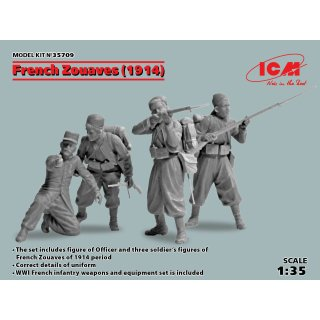 1:35 ICM French Zouaves (1914) (4 figures)