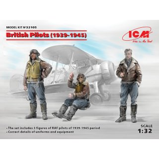1:32 ICM British Pilots (1939-1945)(3 figures)