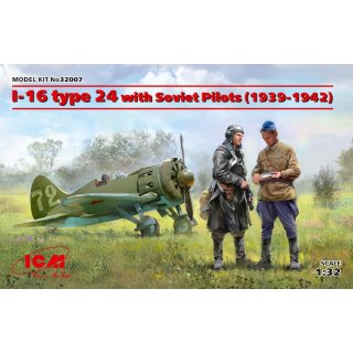 1:32 ICM I-16 type 24 with Soviet Pilots(1939-42) Limited