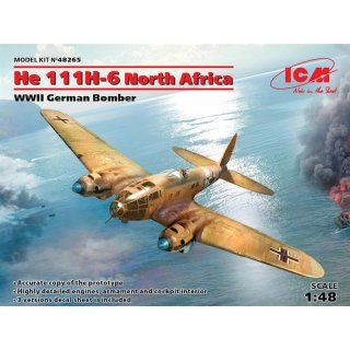 1:48 ICM He 111H-6 North Africa,WWII German Bombe Limited