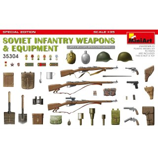 1:35 Mini Art Soviet Infantry Weapons and Equipment. Special Edition