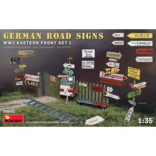 1:35 Mini Art German Road Signs WW2 (Eastern Front Set 1)