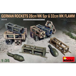 1:35 Mini Art German Rockets 28cm WK Spr & 32cm WK Flamm