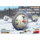 1:35 Mini Art Soviet Ball Tank with Winter Ski.Interior Kit