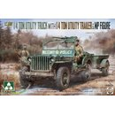 1/35 Takom 1/4 Ton Utility Truck with Trailer and Figure