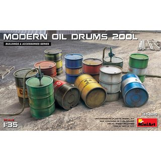 1:35 Mini Art Modern Oil Drums (200l)