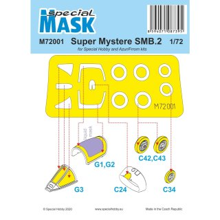 1/72 Special Hobby Super Mystere SMB.2 Masks