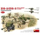 1/35 Mini Art ZIS-2/ZIS-3 With LIMBER & CREW. 2 IN 1