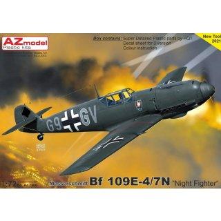 "1/72 AZ Model Bf-109E-4/7N ""Night Fighter"""
